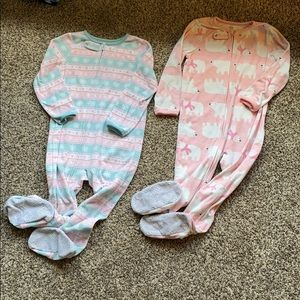 Other - 4T girls footie pajamas
